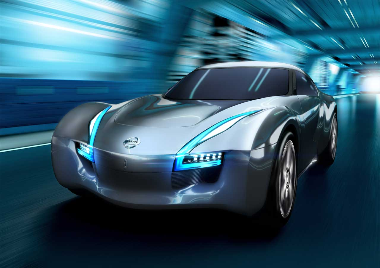 Nissan Esflow Front Chrome Silver Racing Speeding Fast Tunnel Concept Car Phoenix Arizona Valley on Nissan Esflow Concept Car