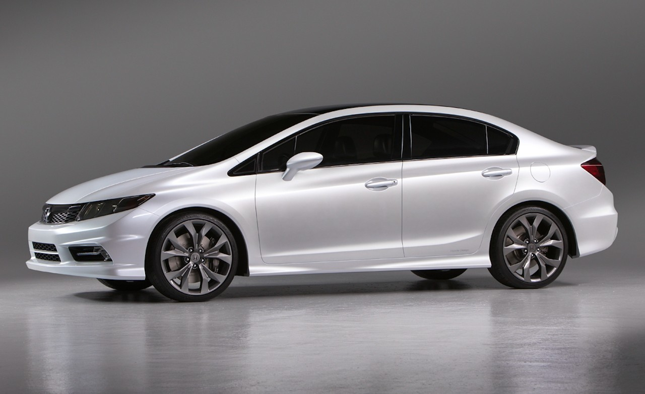 2012 re conceptualized honda civic unveiled at detroit auto show. Black Bedroom Furniture Sets. Home Design Ideas