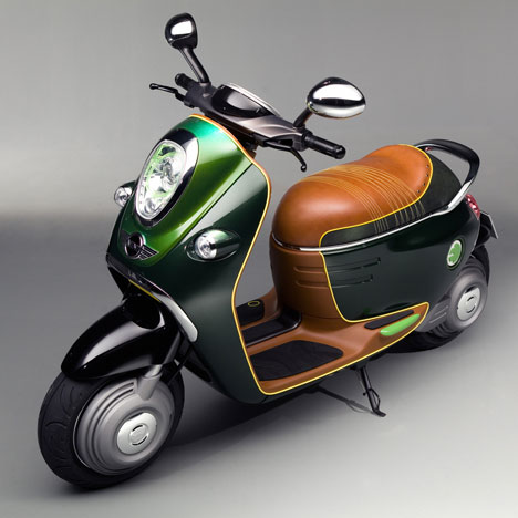 bmw mini scooter e brings high tech to a classic design. Black Bedroom Furniture Sets. Home Design Ideas