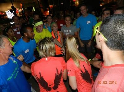 Nike+ Run Club team cheer