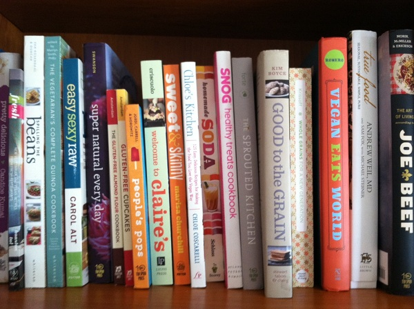 My collection of healthy cookbooks