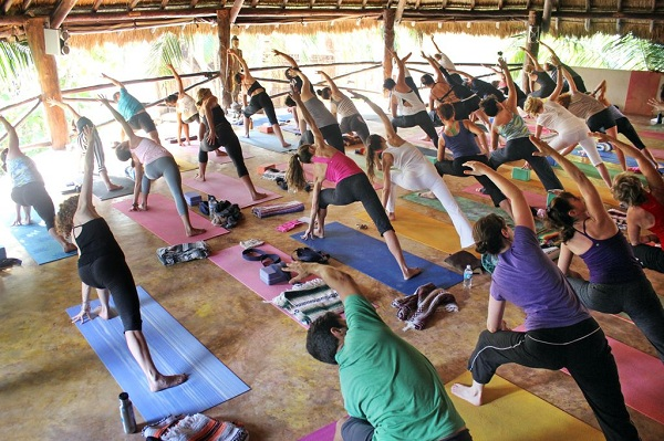 Yoga at Bikini Bootcamp!