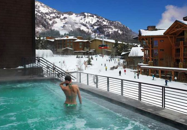 The hot pool at Hotel Terra in Jackson Hole