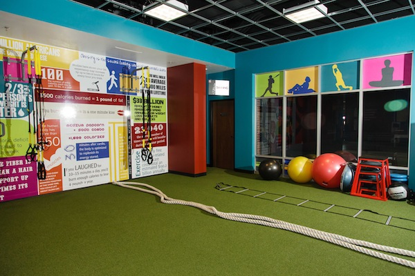 You'll love the astroturf area