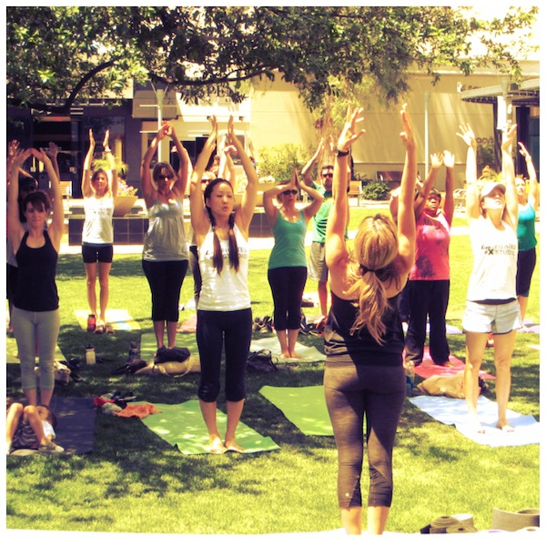 Sign up for Pilates in the Park
