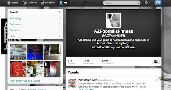 Follow @AZFoothillsFit for daily fitness motivation