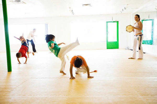 The kiddos in Capoeira action