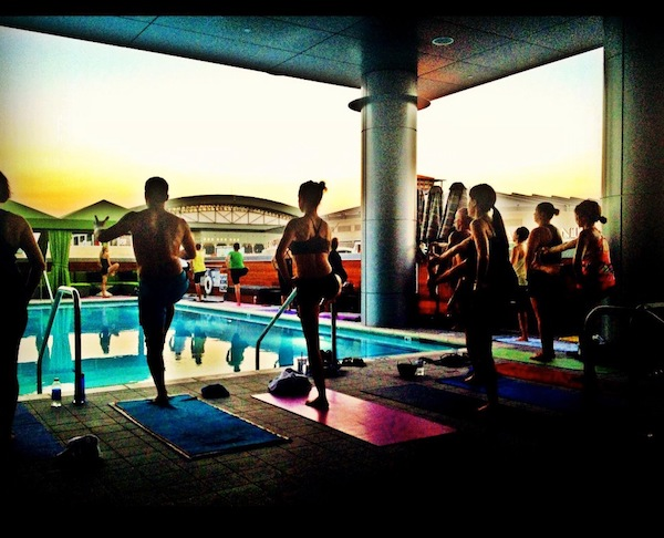 Hotel Palomar, yoga with a view