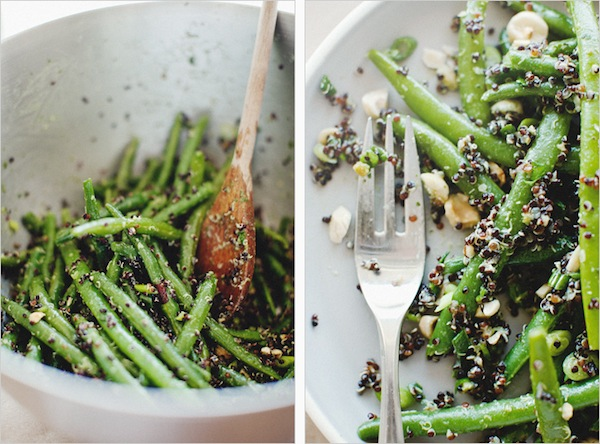 Green Bean + Black Quinoa Salad from Sprouted Kitchen