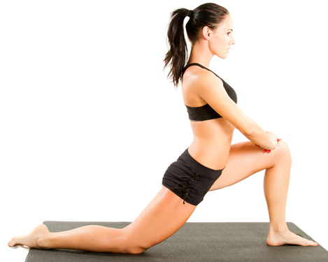 Stretch those hip flexors first for better glutes