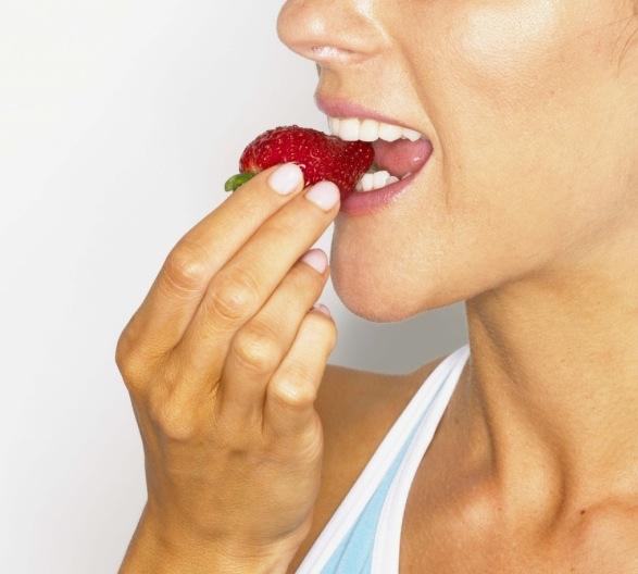 Frozen strawberries satisfy my sweet cravings