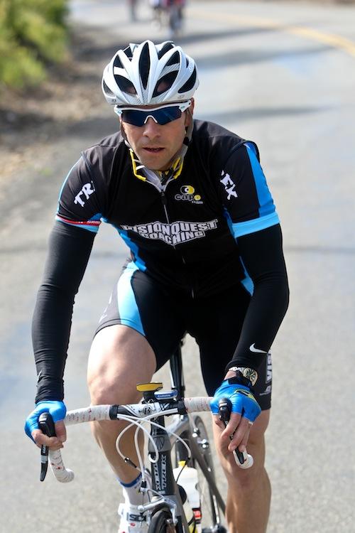 Pro cyclist Robbie Ventura