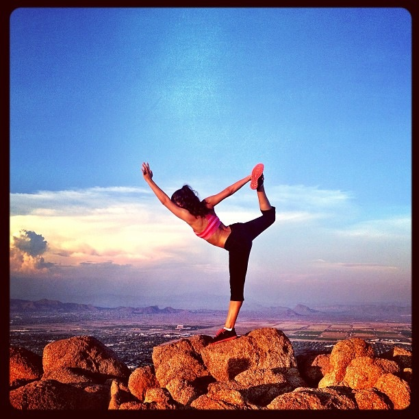 Stephanie Pereyra, striking a pose on Camelback