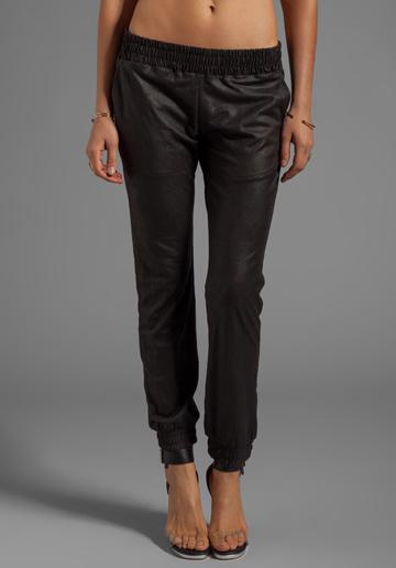 Monrow Vegan Leather Sweats, $171