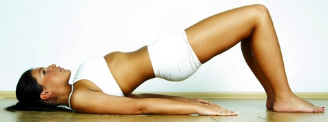 Try this glute bridge to isolate your butt muscles