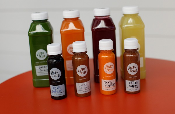 Lots of juices to choose from....