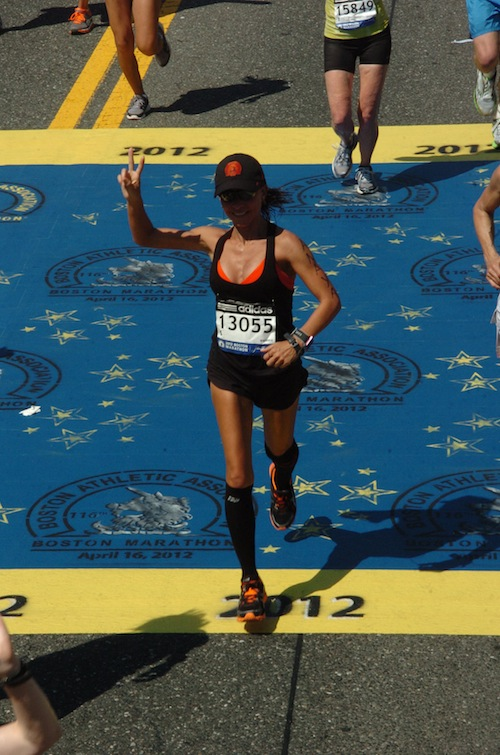 Catherine at the 2012 Boston Marathon