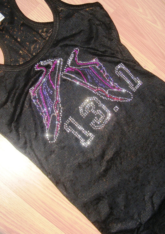Bedazzled half-marathon racerback tank from Etsy