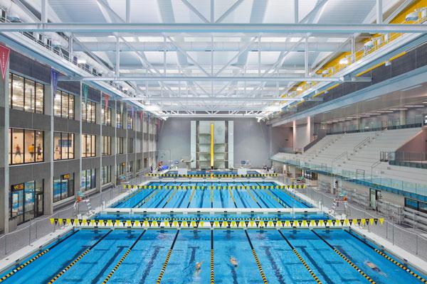 Features zero-depth entry, underwater benches, vortex and current channel