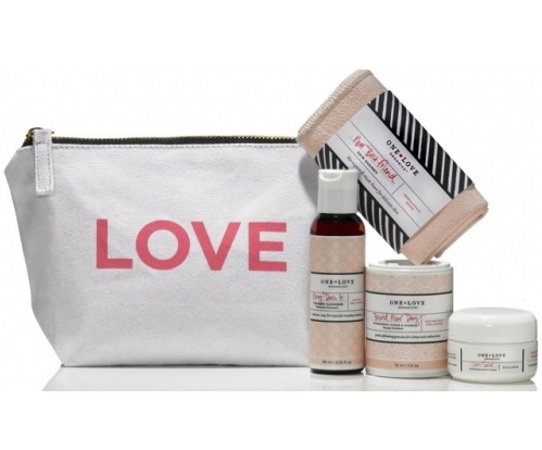One Love Organics Essentials To Go Travel Kit travel sizes, $50