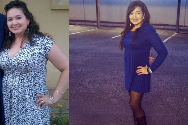 Glory Before: 178 pounds     Glory After: 134 pounds - WOWSA!