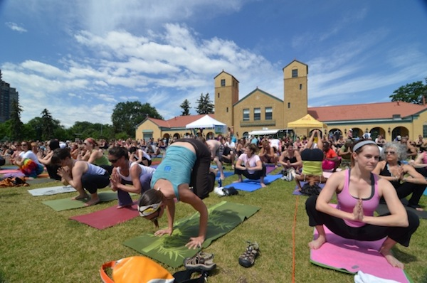 March 9 – FREE day at Yoga Rocks the Park